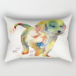 Colorful Puppy - Little Friend Rectangular Pillow