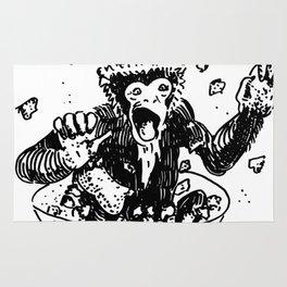 Crazy Monkey in Salad Bowl Rug