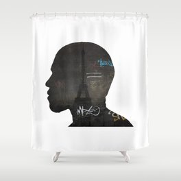 niggas in paris Shower Curtain