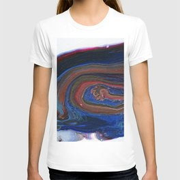Fluid Acrylic VIII - Negative space fluid pour painting T-shirt