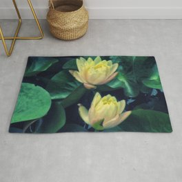 Yellow Lotus Flowers Rug
