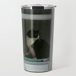 A  Cat in the Window Travel Mug