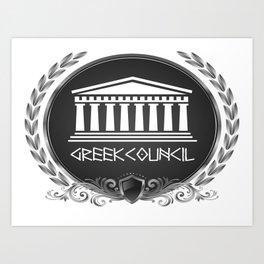 GREEK LUXORY COUNCIL Art Print