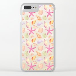 Marine Pattern 01 Clear iPhone Case