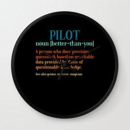Pilot Noun A Person Who Does Sky Pilot Wall Clock