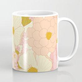 Pink Pastel Vintage Floral Pattern Coffee Mug