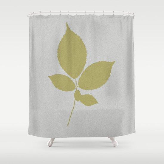 Vert et feuille d'or Shower Curtain