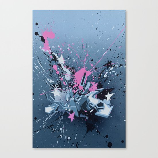All directions - the fancy explosion Canvas Print