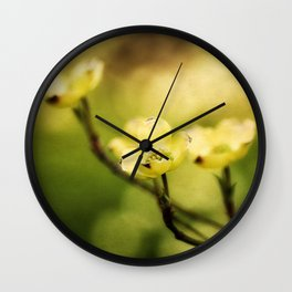 Glowing Dogwood Wall Clock