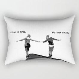 Partner in Time, Partner in Crime, Max Caulfield and Chloe Price Train Tracks Rectangular Pillow