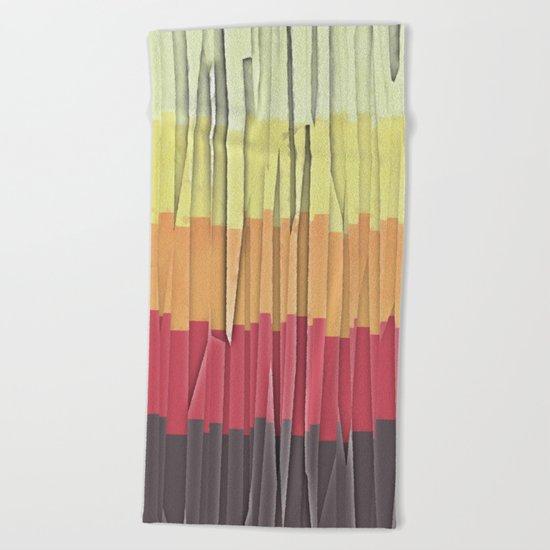 Shreds of Color 5 Beach Towel