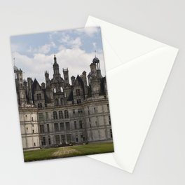 French castle, Chambord, Loire valley Stationery Cards