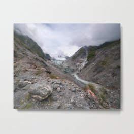 Panoramic view from Robert's Point Track at Franz Josef Glacier Metal Print