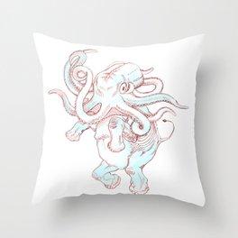 octophant Throw Pillow