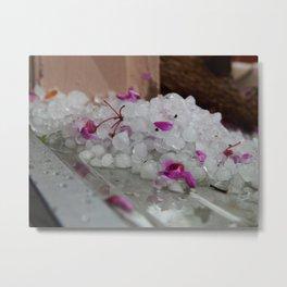 Hail & cherry blossoms Metal Print