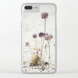 Purple Desert Wildflowers Clear iPhone Case