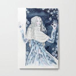 Snow Queen at the window Metal Print