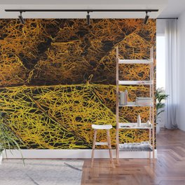 rotten yellow leaf texture Wall Mural