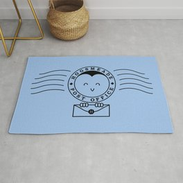 Cute Hogsmeade Post Office Stamp Rug