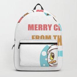 Cute Snowman Christmas Gift For Prosthodontist's Backpack