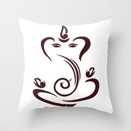 Simple Lord Ganesha Artwork Throw Pillow