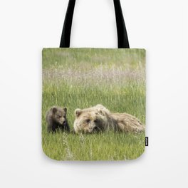 Young Brown Bear Cub and Its Mother, No. 1 Tote Bag