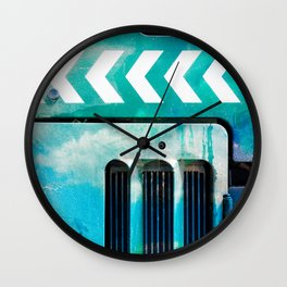 Road Roller Chevron 03 - Industrial Abstract (everyday 19.01.2017) Wall Clock