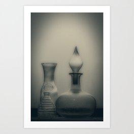 Three Bottles Art Print
