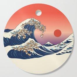 The Great Wave of Shiba Inu Cutting Board