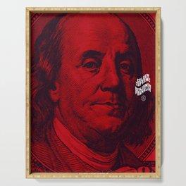 Benjamin Dark (red) Serving Tray