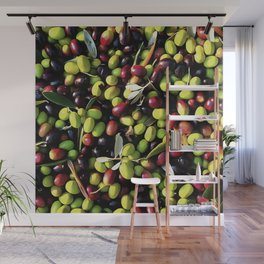 Organic Olives Wall Mural