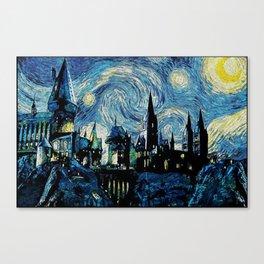 Magic Castle Starry Night Canvas Print