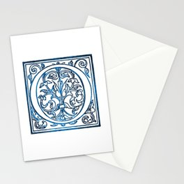 Letter O Antique Floral Letterpress Stationery Cards