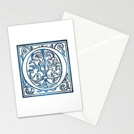 Letter O Antique Floral Letterpress Stationery Cards