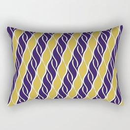 Gold and Purple Stripes Rectangular Pillow