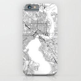 Jacksonville White Map iPhone Case
