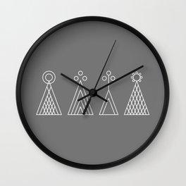 Latvian God signs Wall Clock