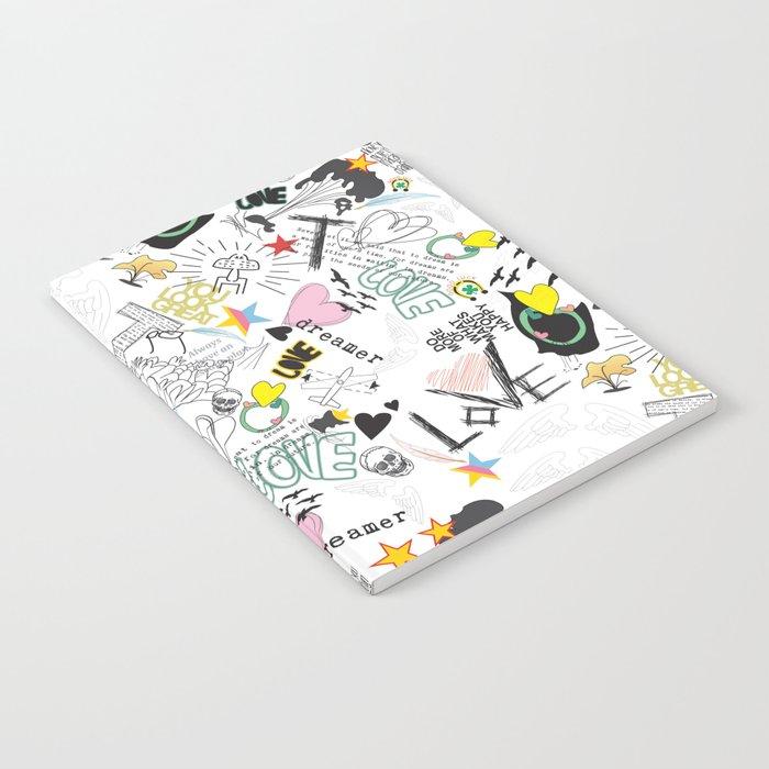 Pop Art ( Cartoon Pattern) V2 Notebook