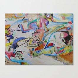 inspiration from Kandinsky . illustration . Canvas Print