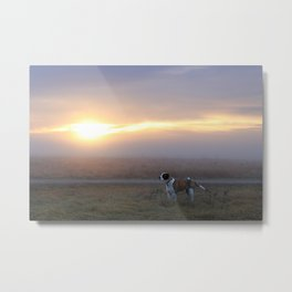 Saint Bernard Sunrise Fog 1 Metal Print