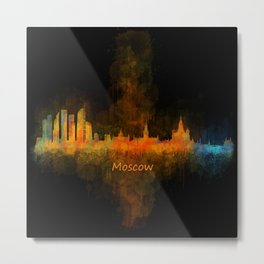 Moscow City Skyline art HQ v4 Metal Print