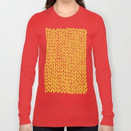 Hand Knit Yellow Long Sleeve T-shirt