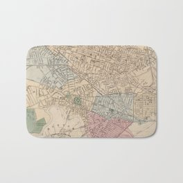 Vintage Map of Cambridge Massachusetts (1891) Bath Mat
