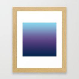 Ombre Blue Ultra Violet Gradient Pattern Framed Art Print