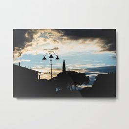 Italian cloudy evening Metal Print