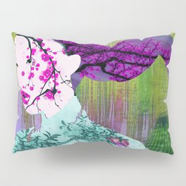 Asian Flower Woman Purple Asia Japan Japanese Art Pillow Sham