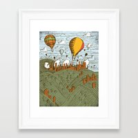 balloons Framed Art Prints featuring BALLOONS by Matthew Taylor Wilson