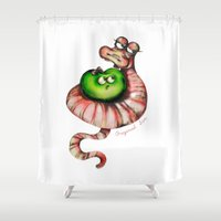sin city Shower Curtains featuring original sin by Mesailes by Germana Picchioni
