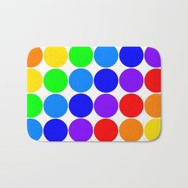 Roy G. Biv color chart Bath Mat