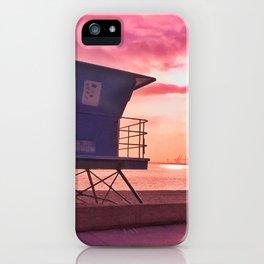 Long Beach Sunset iPhone Case